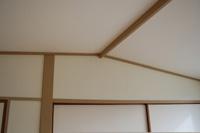 屋根上に傾斜した天井