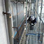 冷泉荘、裏庭側の外壁改修工事完了いたしました!