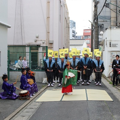 2017年、今年も博多松囃子・稚児舞をご披露いただきました。