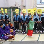 今年も光栄なことに冷泉荘前にて博多松囃子・稚児舞に舞を披露いただきました!