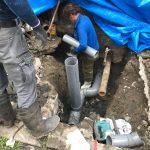 冷泉荘 地中の排水管工事記録